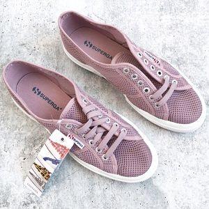 NWT Superga Mauve Mesh Sneakers